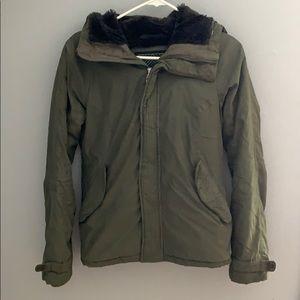 XS TNA thick green winter coat